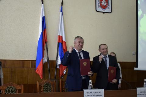 Подписано  Соглашение о сотрудничестве  Комсомольского района  Чувашской Республики  и Черноморского района  Республики Крым